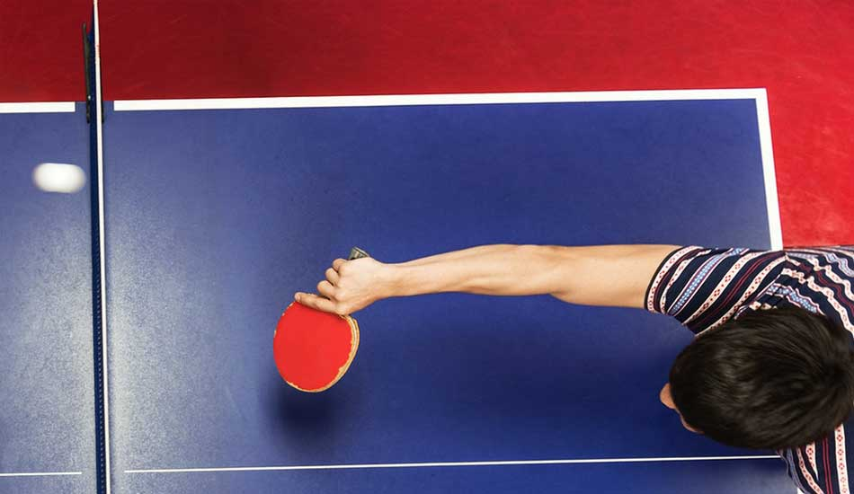 different table tennis grips