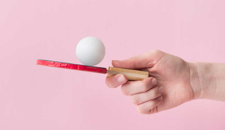 shallow table tennis grip