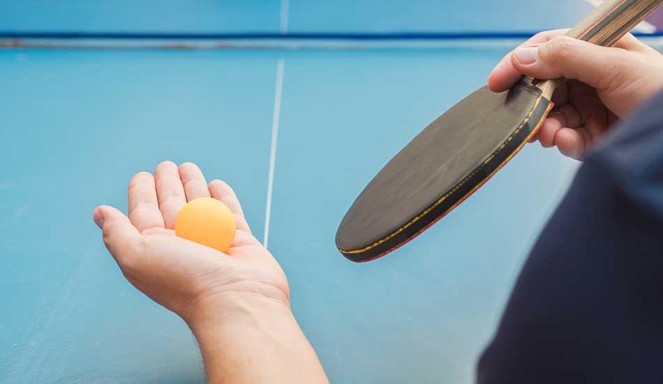 table tennis v grip