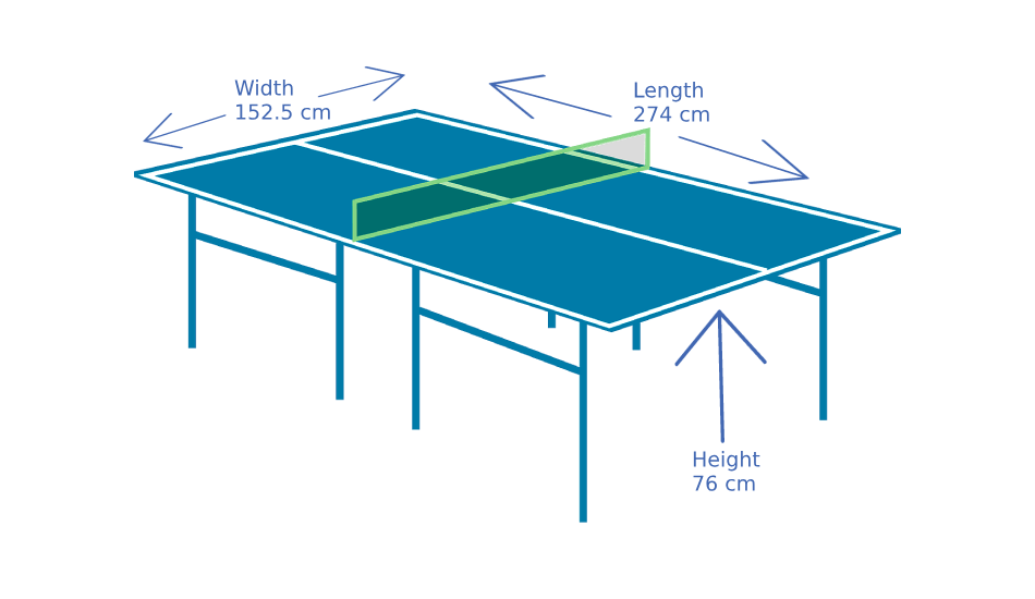 Ping Pong Table Dimensions What Is The Size Of Table Tennis Table