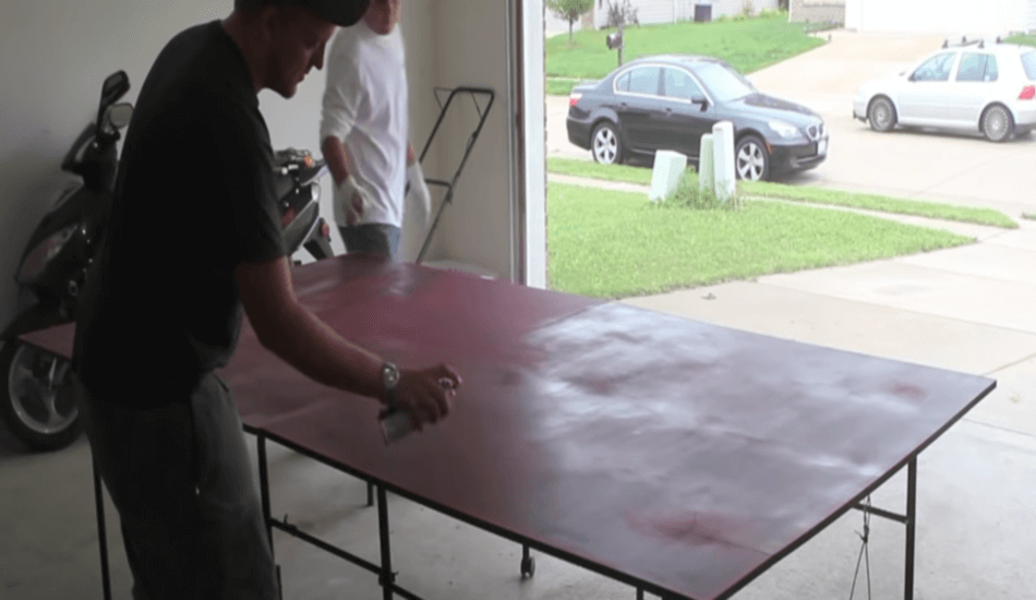 Paint the ping pong table