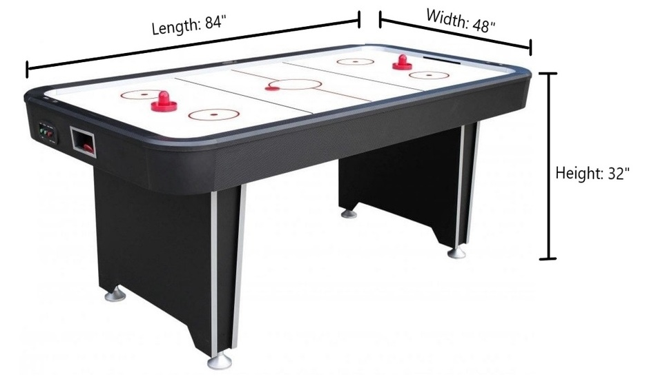 Air Hockey Table Dimensions Size And Regulation