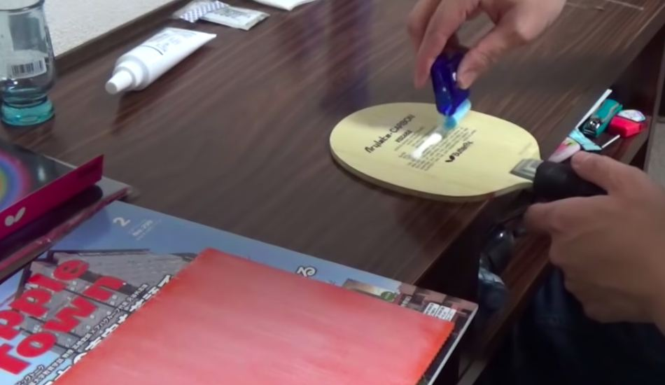 sticky ping pong rubber
