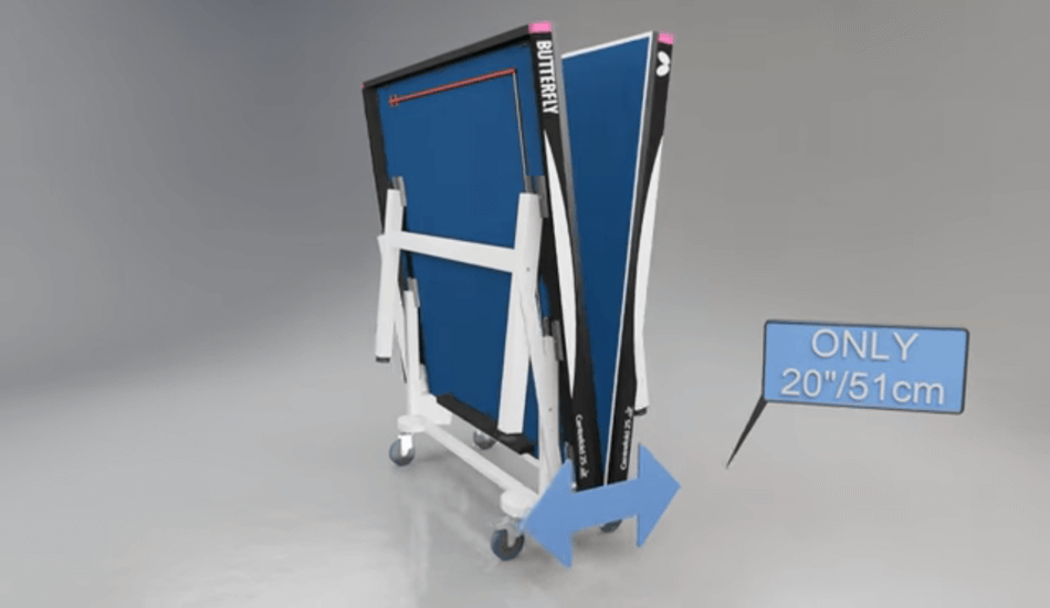 Easily Foldable Feature of Butterfly Centrefold 25 Table Tennis Table