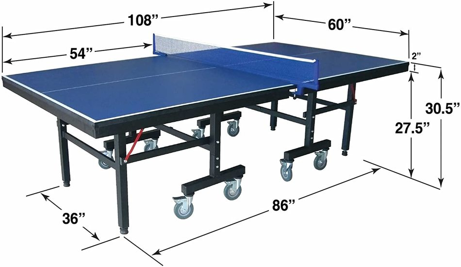 Hathaway Victory Professional Table Tennis Table Dimension