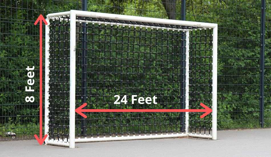 soccer goal post dimensions