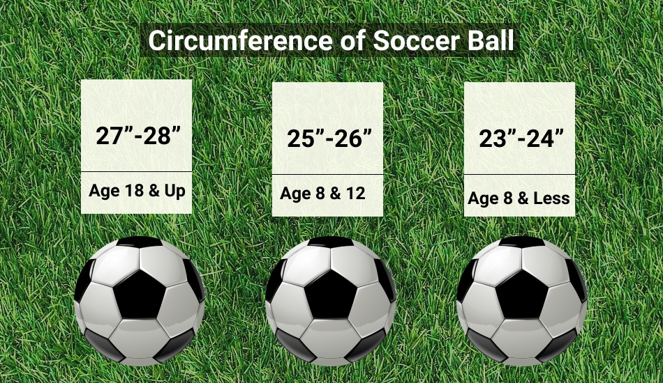 size of soccer ball