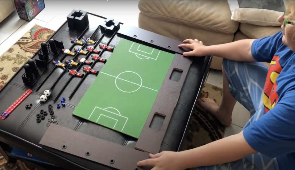 setup foosball table