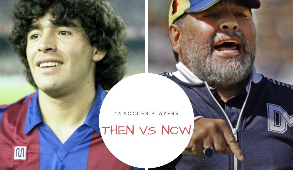 soccer players then vs now
